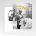 Remerciement mariage chic - Mille mercis Or 55619 thumb