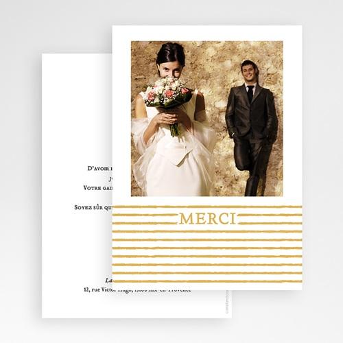 Remerciement mariage photo - Rayures dorées 55646 preview