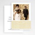 Carte Remerciement Mariage Photo Rayures dorées gratuit