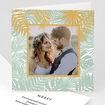 Remerciement mariage chic - Merci tropical - 0