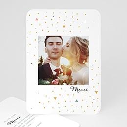 Carte remerciement mariage créatif Côtillons Dorés
