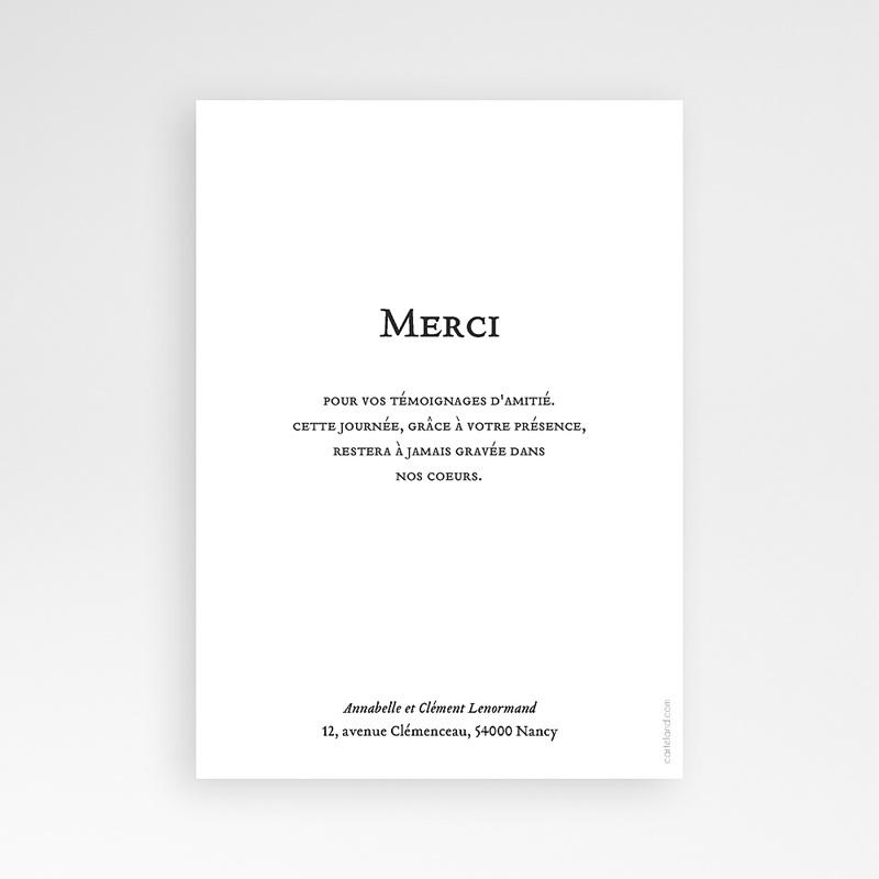 Carte Remerciement Mariage Chic Losange Doré pas cher