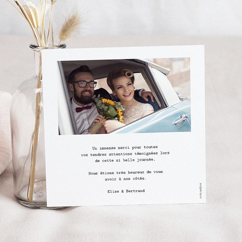 Carte Remerciement Mariage Chic Palmes d'or pas cher