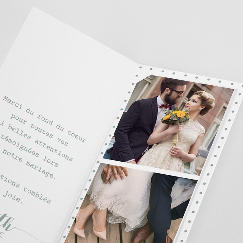 Carte remerciement mariage original Boho Doré pas cher