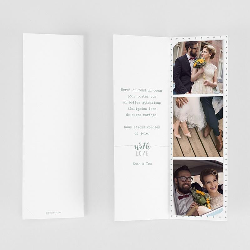 Carte remerciement mariage original Boho Doré gratuit