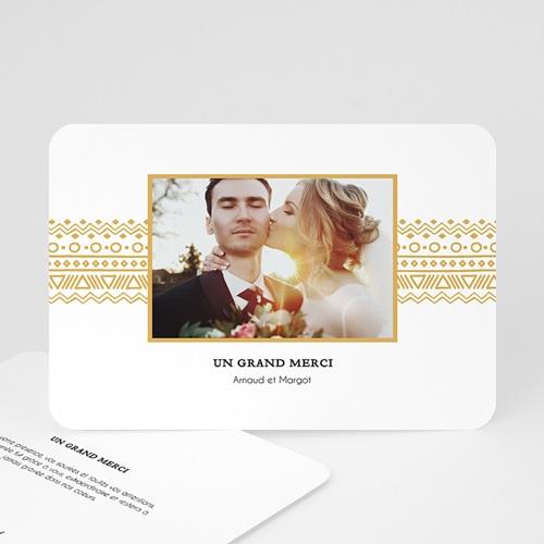 Remerciement mariage classique - Frise Ethnique 55707