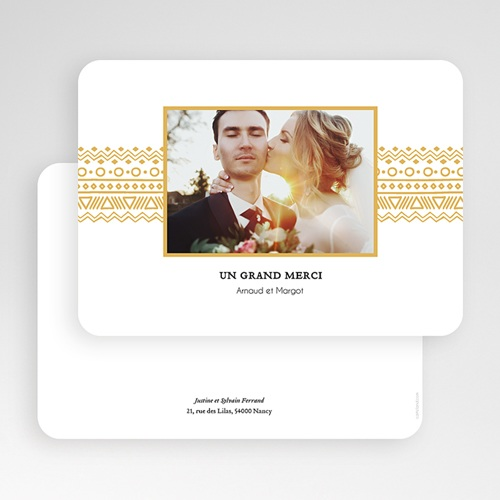 Remerciement mariage classique - Frise Ethnique 55709 preview