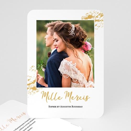 Carte Remerciement Mariage Chic Doux bonheur