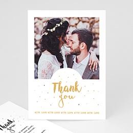 Carte remerciement mariage photo Tendre Merci