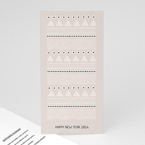 Cartes de Voeux Professionnels - Noel Blanc 55743