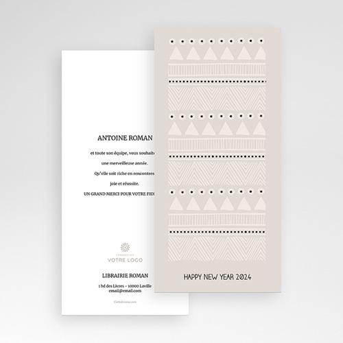 Carte de Voeux Professionnelle - Noel Blanc 55744 thumb