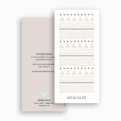 Carte de Voeux Professionnelle - Noel Blanc 55745 thumb