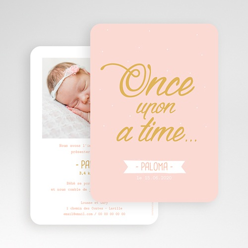 Faire-Part Naissance Fille - Once Upon a Girl 55755 thumb