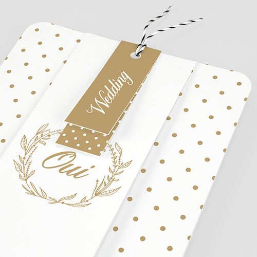Faire Part Mariage chic - Oui Massif 55778 preview