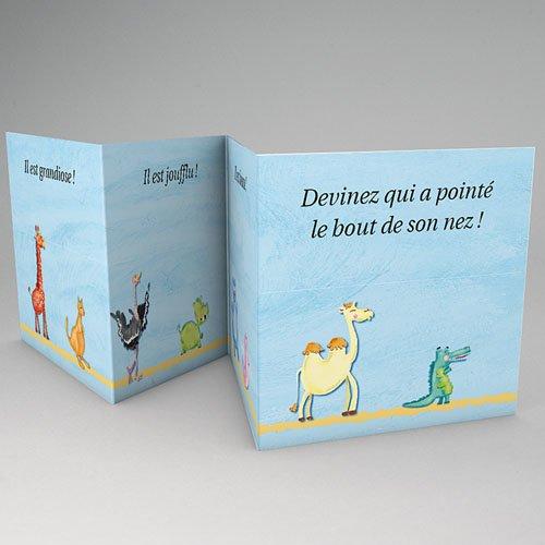 Faire-Part Naissance Garçon - Mini livre de la jungle 56146 thumb