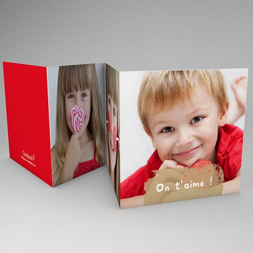 Cartes Multi-photos 3 & + - Trois portraits - Bordure rouge 56155 preview