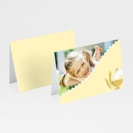 Communion  illustrée - jaune - 3
