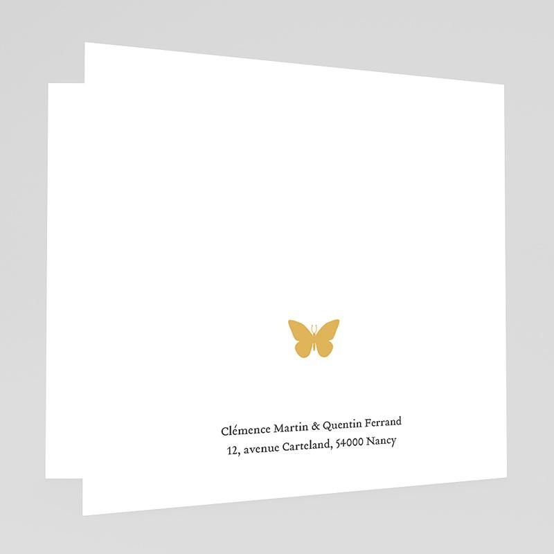 Faire-Part Mariage Traditionnel Couronne et papillon gratuit