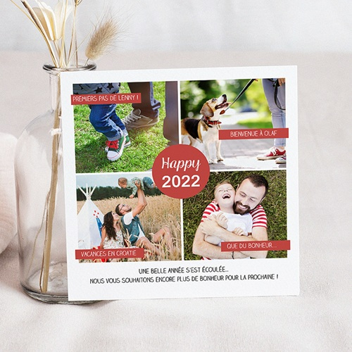 Carte de voeux 2020 Happy New Year Bilan de l'année