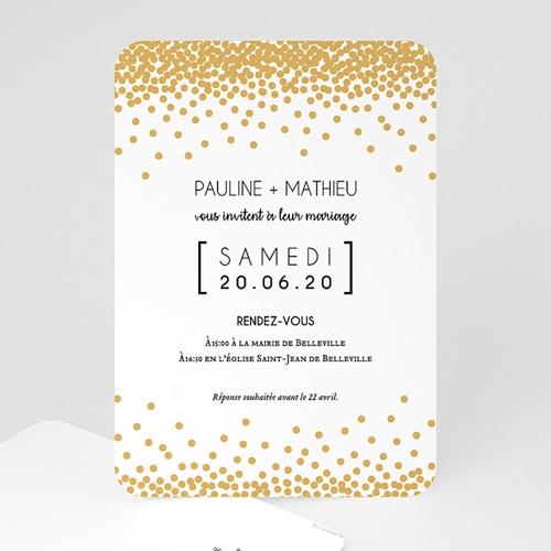 Faire-Part Mariage Chic Pailleté