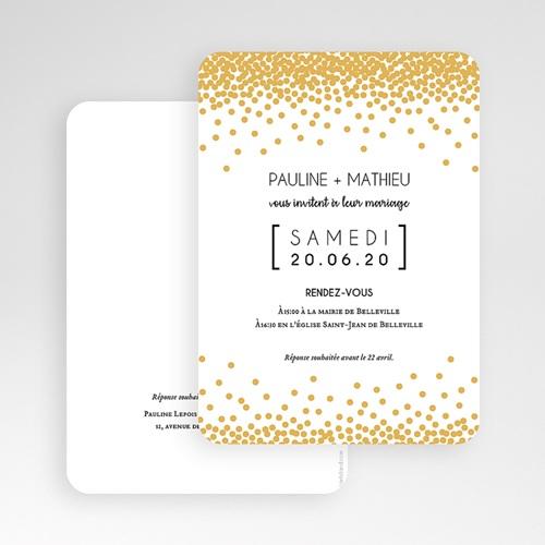 Faire-Part Mariage Chic Pailleté gratuit