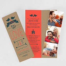 Faire-part mariage photo Bird Love