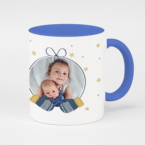 Mug Personnalisé Photo Moufles Bleues