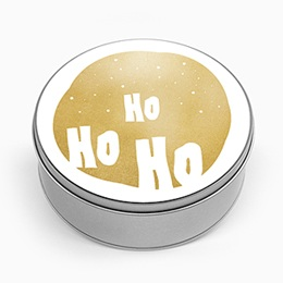 Boite métallique Cadeaux Ho Ho Ho, doré