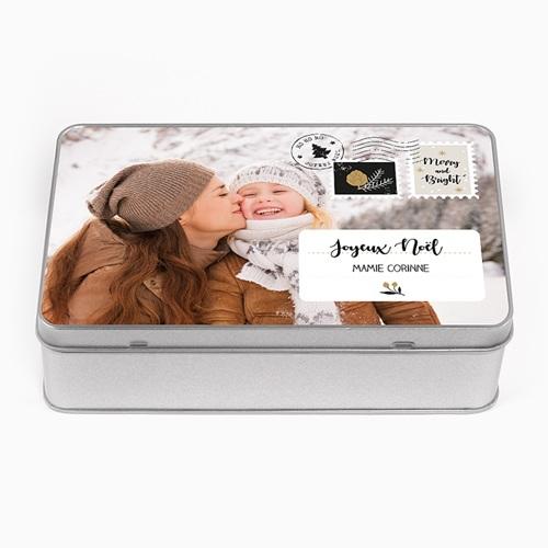 Boîte en métal personnalisée - Timbres Noël 56527 thumb