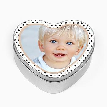 Boîte en métal personnalisée - Coeur d'Amour - 0