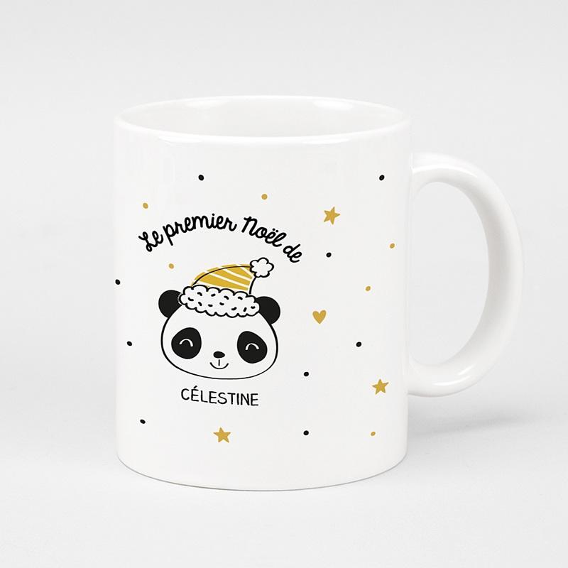 Mug Personnalisé Noël Panda de Noël