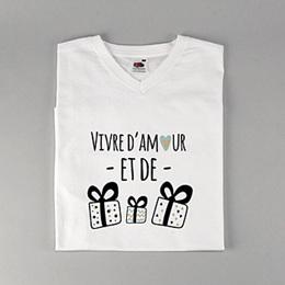 Tee-Shirt avec photo Amour & Cadeaux