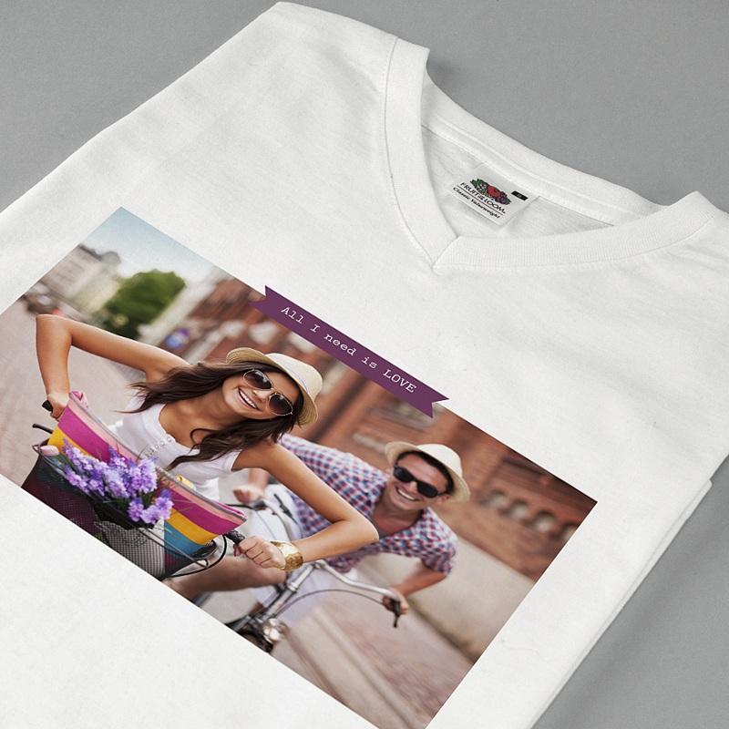 Tee-Shirt Personnalisé Photo Créé par Moi-même pas cher