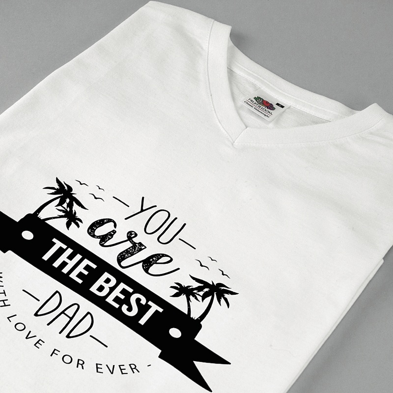 Tee-Shirt avec photo The Best Dad pas cher