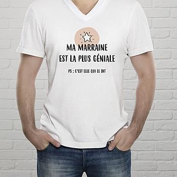 Tee-Shirt avec photo - Pour Marraine - 2