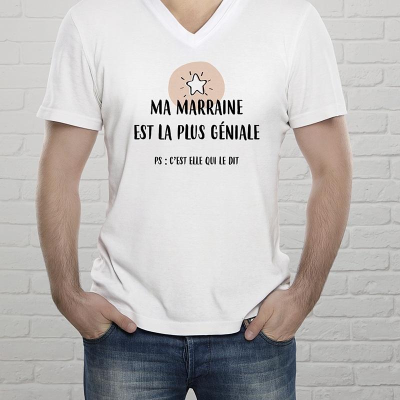 Tee-Shirt Personnalisé Photo Pour Marraine gratuit