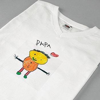 Tee-Shirt avec photo - Dessin d'enfant - 1