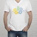 Tee-shirt homme Petites mains gratuit