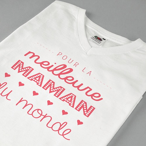 Tee-shirt personnalisé photo Meilleure Maman pas cher