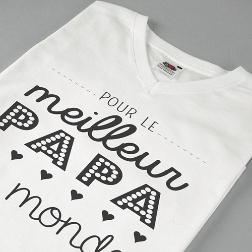 Tee-shirt homme Papa, the best pas cher