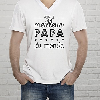 Tee-shirt homme - Papa, the best - 2