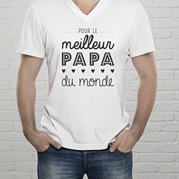T-Shirt Fête des pères Papa, the best