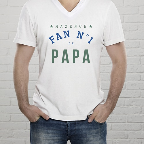 Tee-shirt homme Fan de papa gratuit