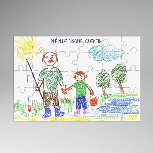 Puzzle rectangle dessin pour papy - Puzzle dessin ...