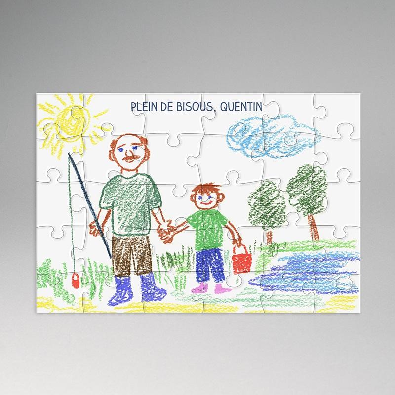 Puzzle rectangle Dessin pour Papy