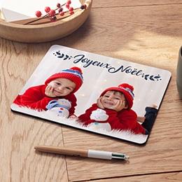 Tapis de Souris Noël Noel bleu