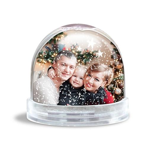 Boule à Neige Personnalisée Photo Décor Noël