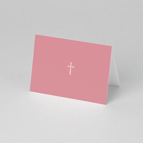 Marque-Place Communion - Croix Contemporaine Rose 56801 preview