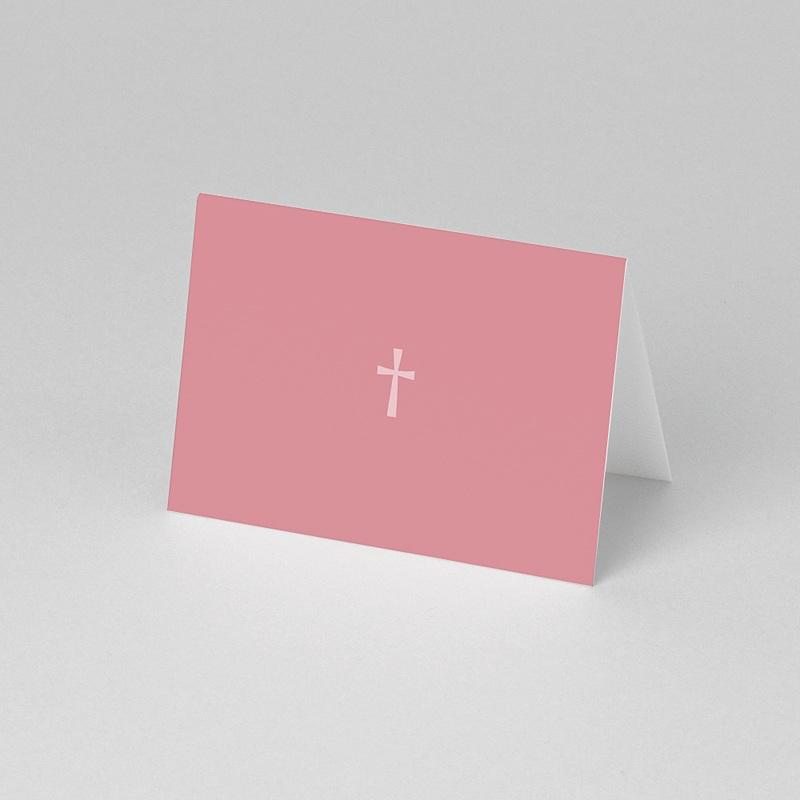 Marque-place communion Croix Contemporaine Rose pas cher