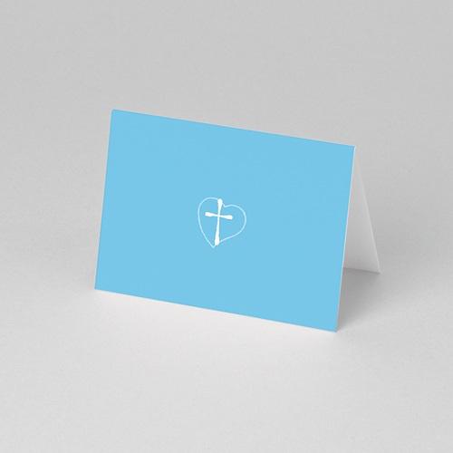 Marque place baptême Dragées  Bleues pas cher